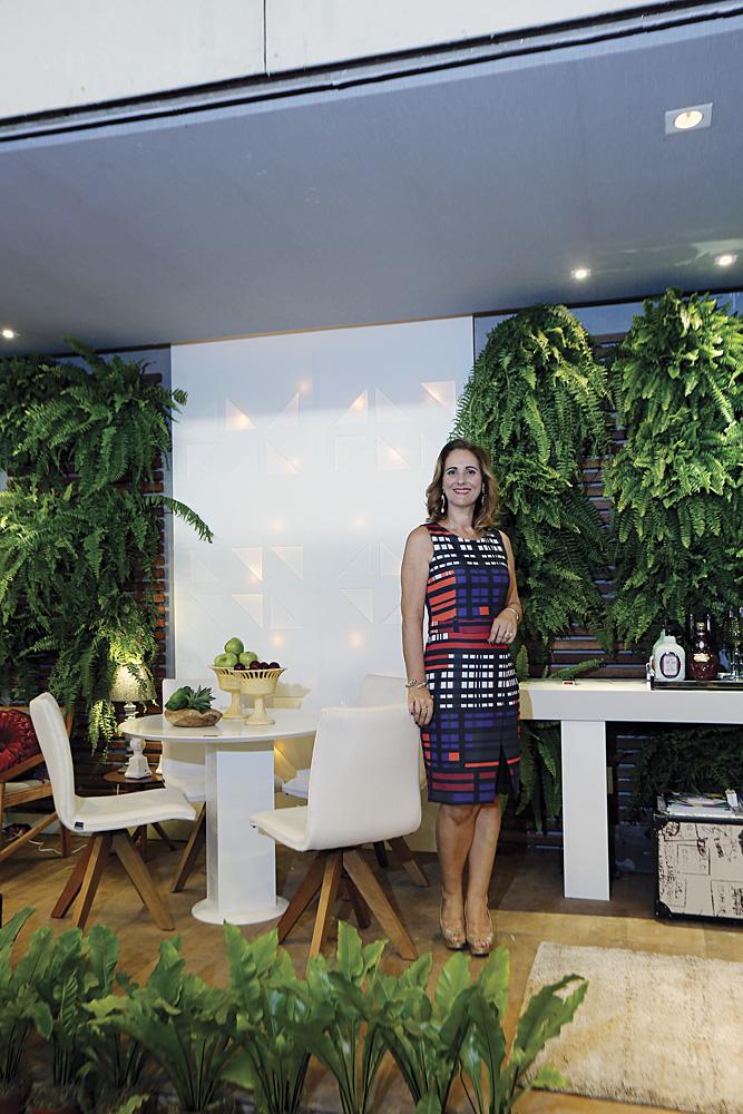 Fabiana Teixeira em seu ambiente Varanda Gourmet no Decor Prime Show 2016
