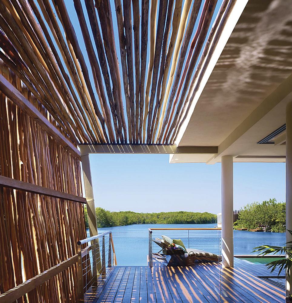 Visão alternativa do terraço do hotel Mayakoba