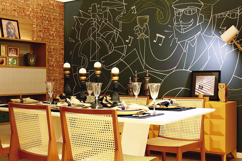 riomar casa 2016. ambiente: sala de jantar do jovem casal. foto: marcelo marona