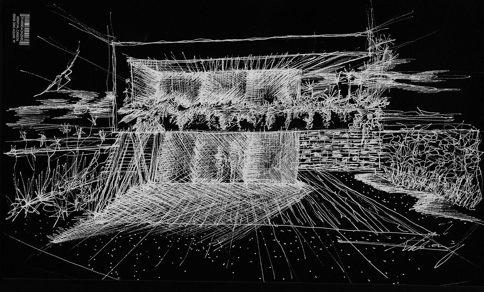 Croquis desenhados pelo arquiteto Kleber Carvalho